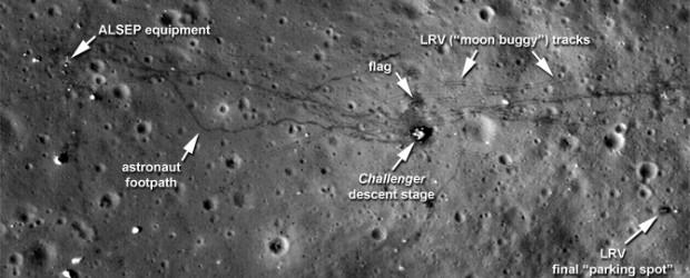 La sonda della NASA Lunar Reconnaissance Orbiter (LRO) ha catturato le fotografie più nitide e dettagliate finora disponibili dei siti di allunaggio delle missioni Apollo 12, 14 e 17