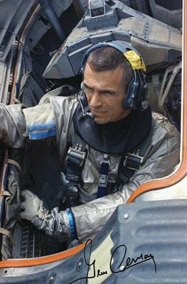 Cernan Gene Autographed Print Astronaut Scholarship