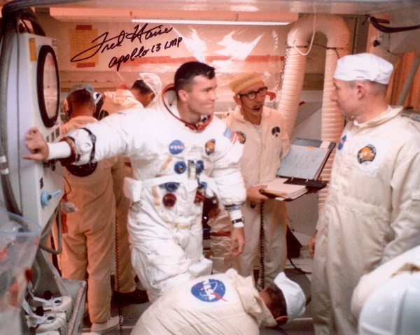 Haise Fred Autographed Print Astronaut Scholarship