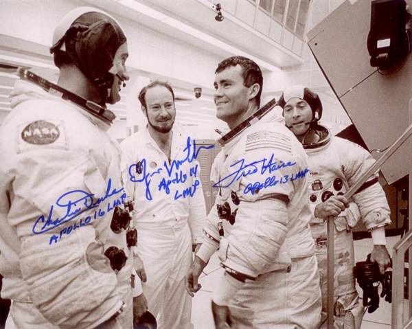 Apollo 16 Multisigned Print Astronaut Scholarship