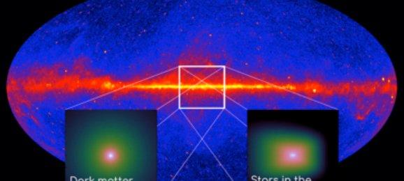Pancaran sinar gamma dari pusat Galaksi. Kredit: Astronomie.nl