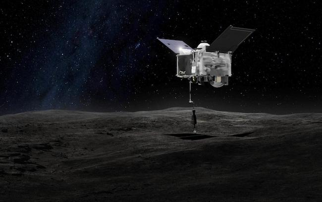 OSIRIS-REx di Bennu. Kredit: Goddard Space Flight Center