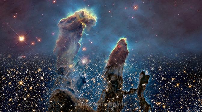 """Veinte años después, el Hubble vuelve a observar los """"Pilares de la Creación"""" en M16"""