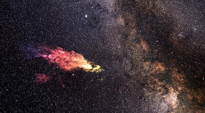 Una gigantesca nube, de regreso hacia nuestra galaxia