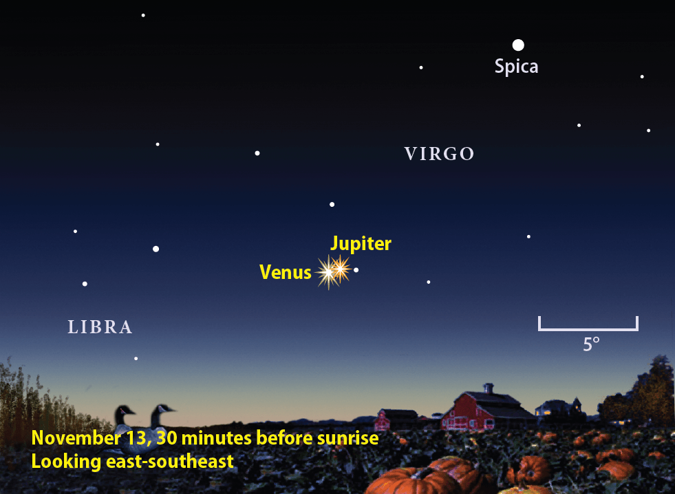 Image result for november 13, 2017 jupiter and venus