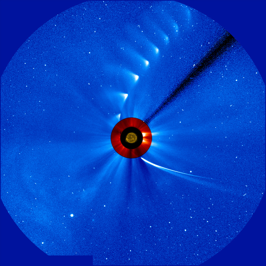 Time-lapse image of Comet ISON from SOHO
