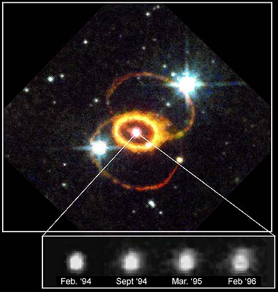 HST view of SN1987A ten years later