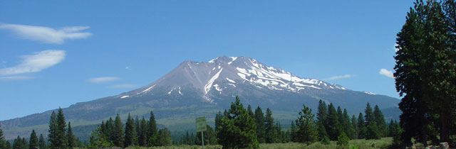 Mt Shasta in northern California