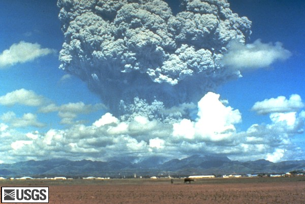 Mt Pinatubo blows its top