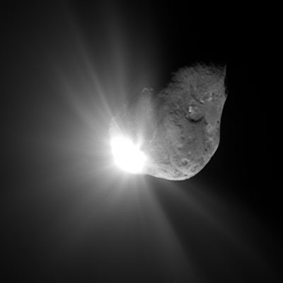 Comet Tempel 1 67 seconds after impact