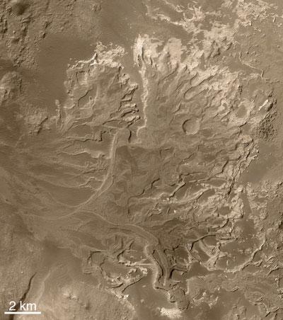 Eberswalde delta is a fossil delta on Mars