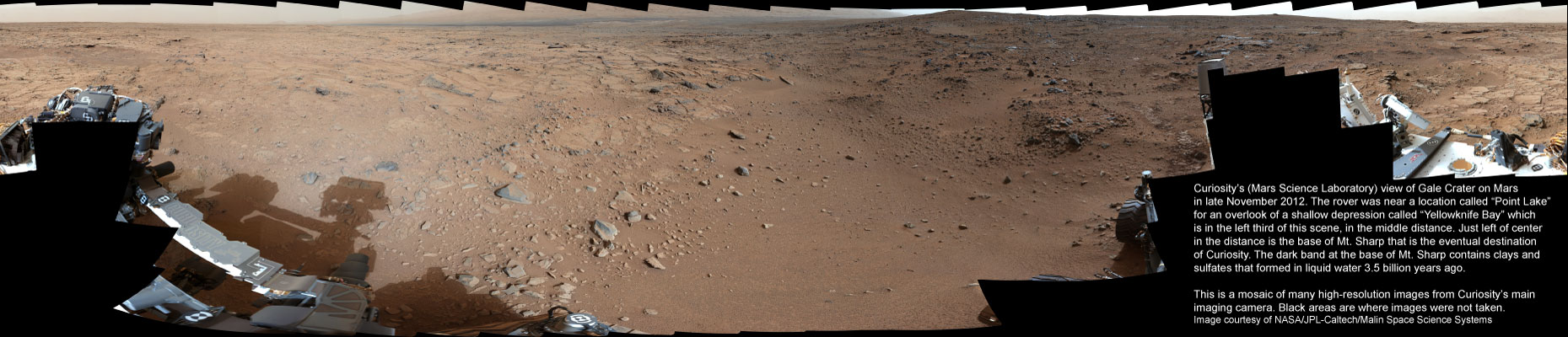 "Gale Crater on Mars ""Yellowknife Bay"""