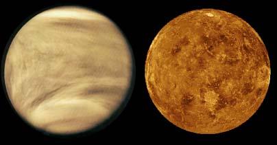 cloudy atmosphere of Venus