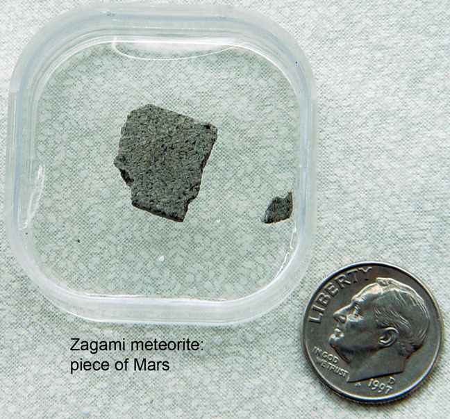 Zagami meteorite is a piece of Mars