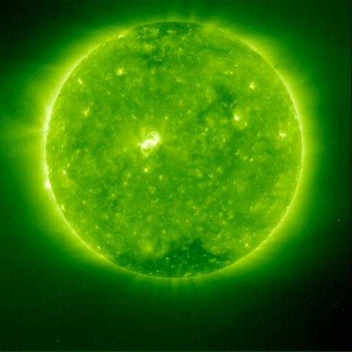 extreme UV image from SOHO