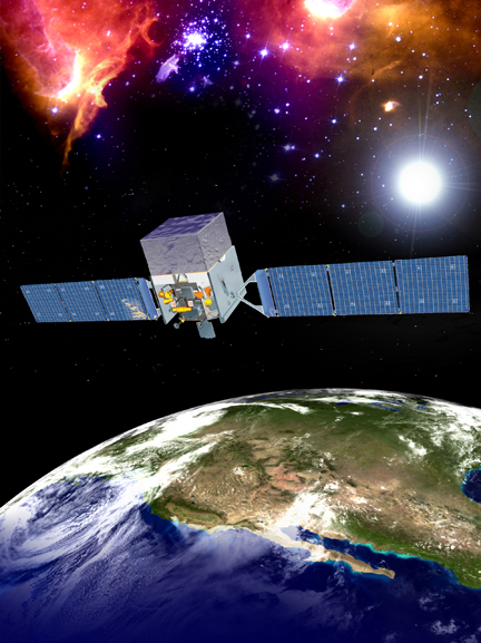 Fermi Gamma-ray Spacecraft in orbit around Earth