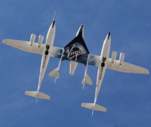 Space Tourist Plane Completes First Powered Test Flight