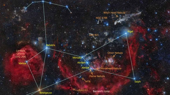 Deep Sky Objects in Orion