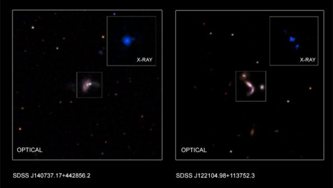 Cache of Colliding Supermassive Black Hole Discovered
