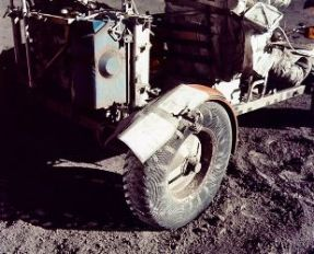Moon Buggy repaired with duct tape
