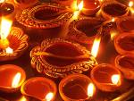 Lighting Diya and Agarbatti