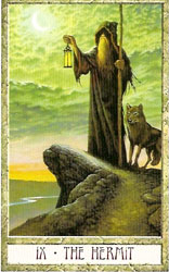 Hermit card-Virgo