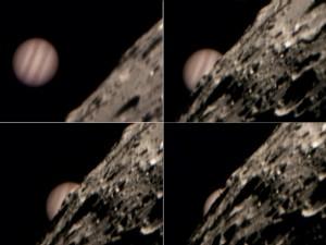 L'occultazione di Giove da parte della Luna, foto di foto di Becky Coretti e Bill Williams (USA, 2004)