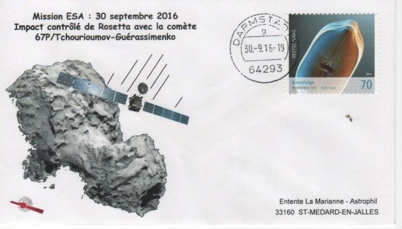A158 4 - Vol 158 - 30 Septembre 2016 - Crash commandé de Rosetta sur la Comète Tchouri