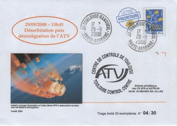 """A181 8 - Vol 181 - 29 Septembre 2008 - ATV """"Jules VERNE, Désorbitation et Destruction dans l'atmosphère"""