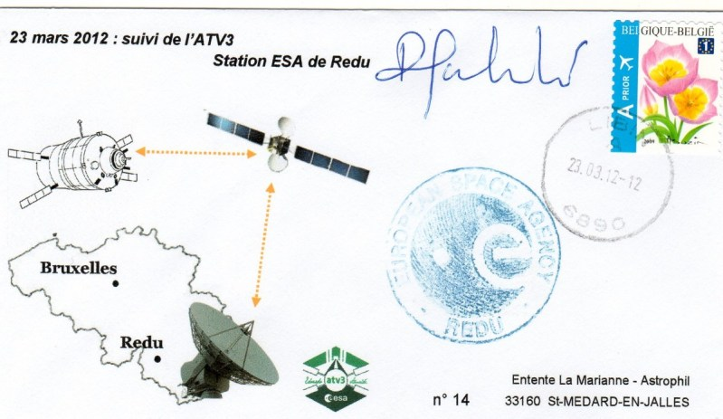 A205 1 - Vol 205 - ATV 3 Edoardo Amaldi - 23 Mars 2012 - Suivi trajectoire Radar Base ESA Redu Belgique -