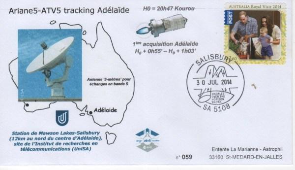 A219 2 - Vol 219 - ATV 5 - 30 Juillet 2014 Station de poursuite radar Adélaïde (Australie)