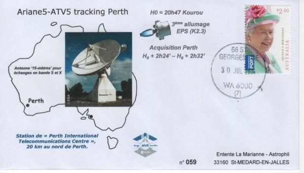 A219 3 - Vol 219 - ATV 5- 30 Juillet 2014 Station de poursuite radar de Perth (Australie)
