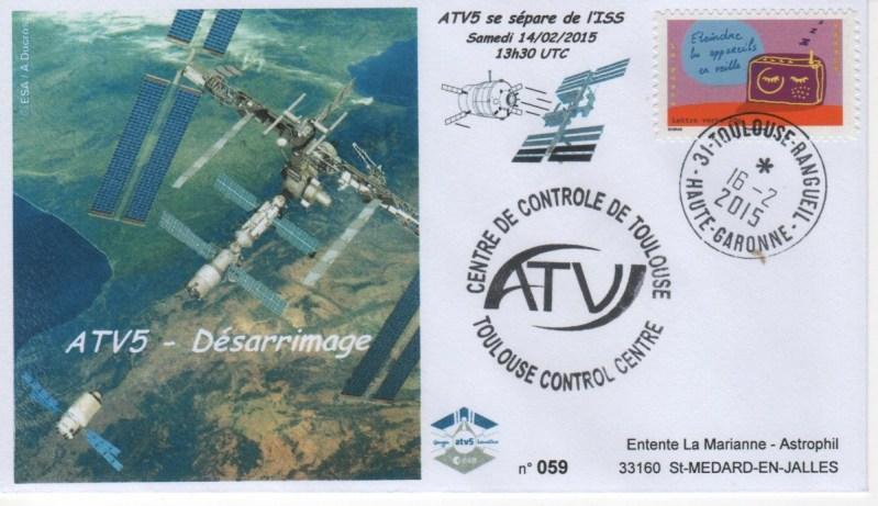 A219 5 - Vol 219 - ATV 5 - 14 Février 2015 Désarrimage de l'ISS