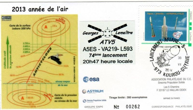 A219 - Vol 219 du 29 Juillet 2014 - ATV 5 Georges Lemaître (Dernier ATV)