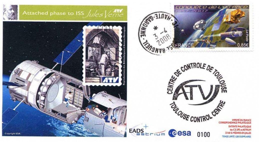 """ATV1 TSE2 red - Vol 181 - 03 Avril 2008 - ATV 1 """"Jules VERNE"""" est amarré à la Station Spatiale Internationale"""