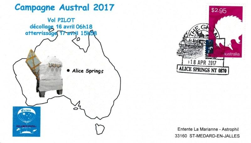 Austral Pilot - Spatial - 17 Avril 2017 - Ballon Campagne Austral 2017 CNES - Vol Pilot Aterrissage