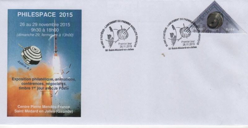 DC007 4 - Document - 26 Novembre 2015 - 50 ans lancement satellite Astérix - Salon PHILESPACE 2015
