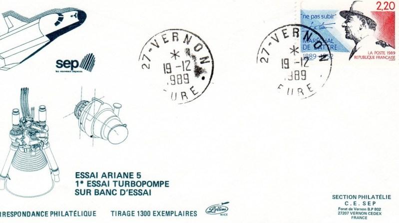 DD002 - Développement Ariane 5 - 19 Décembre 1989 -Premier Essai turbo pompe