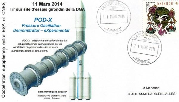 DD018 - Développement Ariane 6 - 11 Mars 2014 Essai POD-X