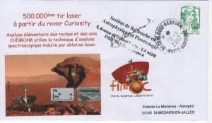 DE001 1 - Spatial - 20 Septembre 2017 - Rover Curiosity 500 000ème tir laser - FIMOC
