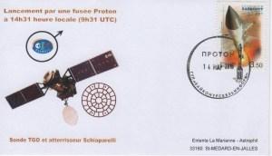DE002 - Spatial - 14 Mars 2016 - Lancement Proton M - Sonde Exomars TGO Pour Mars