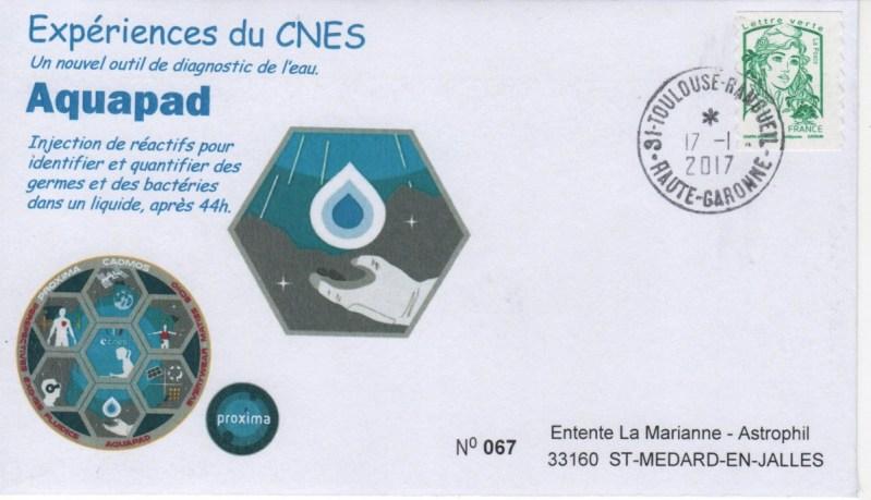 DE005 1 - Spatial - 17 Janvier 2017 - Mission Proxima expérience Aquapad