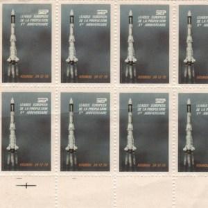 DT001 - Document - Vignettes émises pour le 10ème anniversaire du premier lancement Ariane
