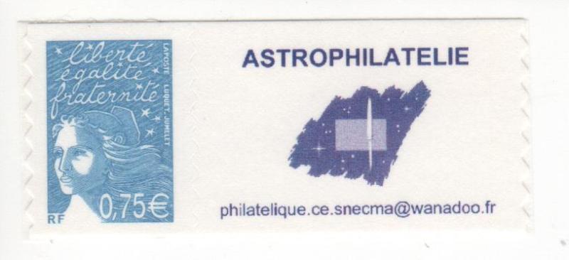 DT003 3 - Document - Timbre personnalisé - Astrophilatélie