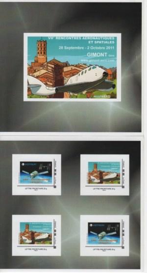 DT004 2 - Document - Timbre à Moi Collector - 7ème rencontres Aéronautiques et Spatiales - ATV2 Johannes Kepler