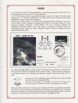 FA010 - Fiches Album - Vol 205 à Vol 212 - (10 Fiches) - Album 3  A5
