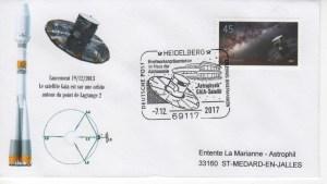 """S006 2 - 07 Décembre 2017 - Émission par la Poste Allemande d'un Timbre à l'effigie du satellite """"GAÏA"""""""