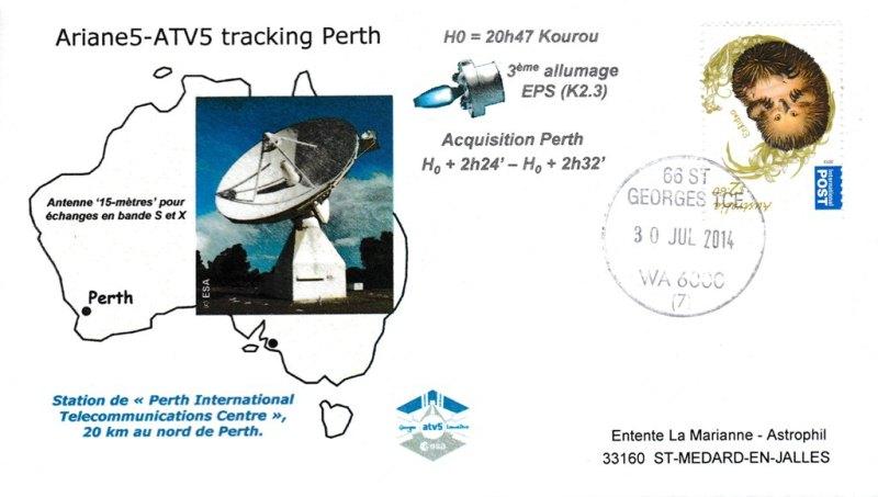 ATV5 Tracking Perth 20140730 - Vol 219 - ATV 5 - 30 Juillet 2014 - Station de poursuite de Perth (Australie)