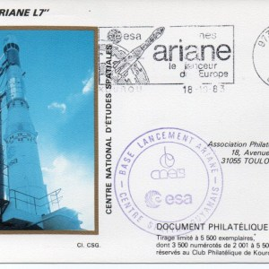 img20191125 15284957 - Kourou (Guyane) Lancement Ariane 1 - Tir L7 - 18 Octobre 1983 (Pochette CNES Complète)