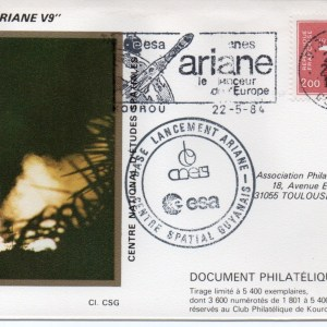 img20191126 18232286 - Kourou (Guyane) Lancement Ariane 1 - Tir V9 - 22 Mai 1984 (Pochette CNES Complète)